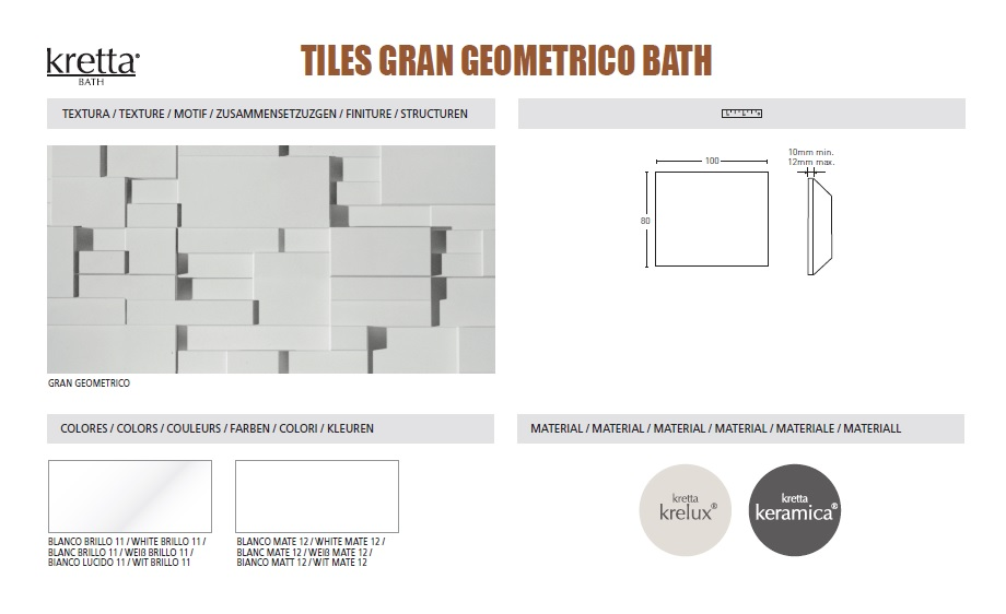 GRAN GEOMETRIC - COLOURS & SIZES